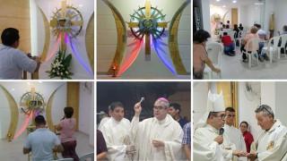 Bendición del Sagrario en la Casa de la Misericordia María Auxiliadora en Cúcuta